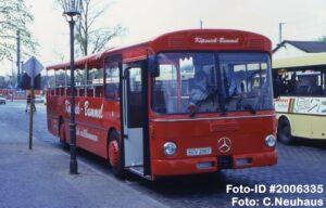 28.04.1996, Erster Einsatz nach dem Cabriolet-Umbau als Wagen 2067 vom Startpunkt am S-Bahnhof Köpenick aus (Foto: C.Neuhaus)